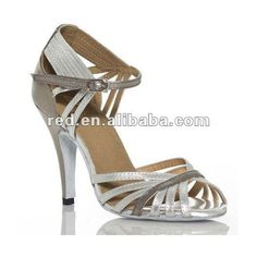 2012 NEW DESIGN Ladies latin dance shoes Sexy Salsa shoes Silver ($14) ❤ liked on Polyvore