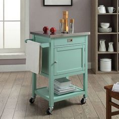 Brookridge Kitchen Cart with Stainless Steel Top #birchlane