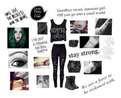 """I'm punk rock"" by layla-banton on Polyvore featuring PLDM by Palladium, Boohoo and Sif Jakobs Jewellery"