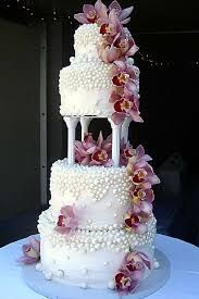 Image result for orchid wedding cake