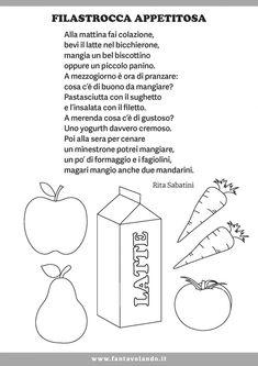 Poesie per il progetto di educazione alimentare - Fantavolando Crafts For Kids, Words, Homeschooling, Children, Crafts For Children, Young Children, Boys, Kids Arts And Crafts, Kids