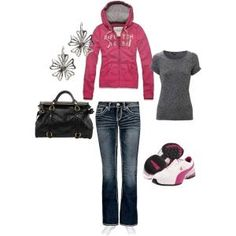 Outfit Idea: cute and casual with a hoodie and sneakers by Misty Honan