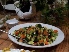A técnica para fixar a cor nos legumes é colocá-los em água gelada por uns segundos logo após a cozedura