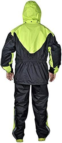 Tourmaster Shield Two-Piece Waterproof Motorcycle Riding Rain Suit Black XL
