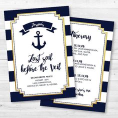 Last Sail Before The Veil Bachelorette Party by MintArrowDesigns
