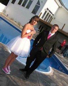 Prom dress and converse 86