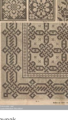 This Pin was discovered by Mar Cross Stitching, Cross Stitch Embroidery, Embroidery Patterns, Cross Stitch Patterns, Fillet Crochet, Back Stitch, Bargello, Repeating Patterns, Cross Stitch Designs