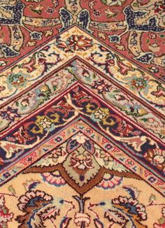 This is a silk and gold thread version of a Tabriz style rug. Tabriz, located to the north-west, is Iran's second oldest city and has been at the center of the
