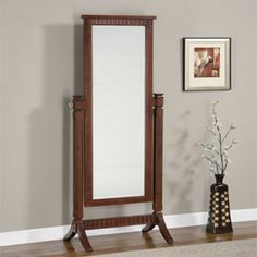 Shop Contemporary Merlot Rubberwood MDF Cheval Mirror with great price, The Classy Home Furniture has the best selection of to choose from Mirrored Furniture, Accent Furniture, Cool Furniture, Wood Floor Finishes, Freestanding Mirrors, Powell Furniture, Cheval Mirror, Foyer Decorating, Beautiful Mirrors