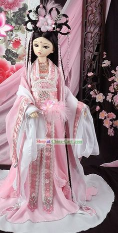 flower pink chinese hanfu