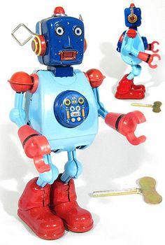 Buy Weird Wayne Radical Robot Blue at TinToyArcade.com