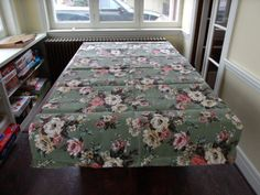 Vintage Floral Barkcloth Fabric Remnant 2 YDS Unused 1950's 1960's. $14.95, via Etsy.