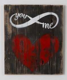 Another great find on #zulily! 'You & Me' Infinity Reclaimed Wood Wall Art by DelHutson Designs #zulilyfinds
