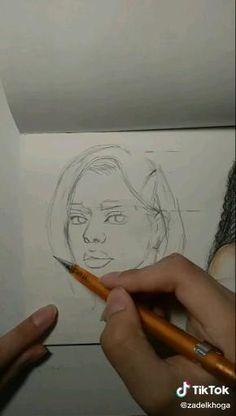 Art Drawings Beautiful, Art Drawings Sketches Simple, Pencil Art Drawings, Realistic Drawings, Diy Canvas Art, Art Sketchbook, Art Tutorials, Painting & Drawing, Sketching