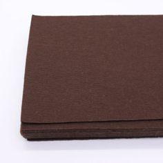 2mm Thick Soft Felt Fabric Sheet Squares Brown Felt Nonwoven Pack Diy Craft Sewing Squares Nonwoven Patchwork 20cm X 30cm 12 Pcs