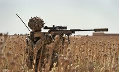 Sniper with 2 Royal Anglian in Afghanistan