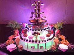 Hire a chocolate fountain - Angel Chocolate Falls Types Of Chocolate, Homemade Chocolate, Chocolate Desserts, Hot Chocolate, Lolly Buffet, Dessert Buffet, Candy Buffet, Chocolate Fountain Hire, Chocolate Fountains