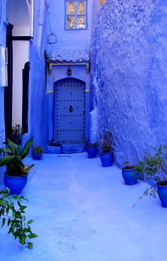 Morocco what a fantastic blue wish we had more colour in our cities and towns Make more people wear a smile