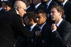 Stephan Lichtsteiner and Arturo Vidal