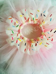 Cupcake tutu- sweet tutu - donut tutu skirt- tutu with sprinkles in pink with ivory topping-valentine candy photo by HandyMandyGirl on Etsy https://www.etsy.com/listing/562590009/cupcake-tutu-sweet-tutu-donut-tutu-skirt