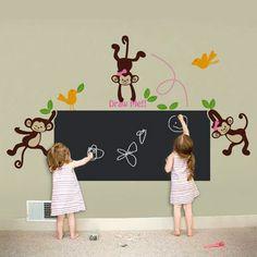 Draw with Monkey and Friends Kids Chalkboard