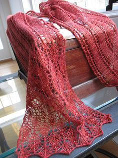 Favorite Summer Project  Beaded Summer Stream Scarf Ravelry 02 by fisherwomanknits, via Flickr