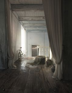 The House is empty now by Andrei Mikhalenko   Realistic   3D   CGSociety