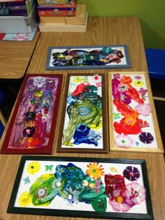 Preschool spring art work idea--Pinned by Child Care Aware of Central Missouri.