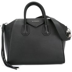 Givenchy small Antigona tote (175.120 RUB) via Polyvore featuring bags, handbags, tote bags, black, woven leather tote, zip top tote bags, leather handbags, zippered tote bag и zipper tote