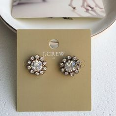 Small round stud earrings from Jcrew factory Super cute stud earrings super cute! J. Crew Jewelry Earrings