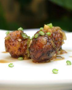 Manchurians, boulettes de légumes cuisinés dans une délicieuse sauce aigre-douce + video.
