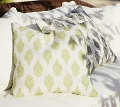 Palace Outdoor Pillow #potterybarn... looks great with my Crate lakeside adirondack chairs and Sanibel pillows