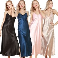 """"""" If you are satisfied, we sincerely hope that you can leave us a. Satin Gown, Satin Dresses, Silk Satin, Sexy Dresses, Jolie Lingerie, Bridal Lingerie, Lingerie Silk, Silk Chemise, Lace Nightgown"""