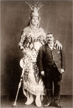 Pauline Marie Elizabeth Wehde (Marianne Wehde, but also known as Marianne Wedde) was born in the Benkendorf (near Halle), Germany on 31 January 1866. She began touring at age 16, first in England and then in France and Ireland. In 1882 she was advertised as the soon-to-be bride of giant man Joseph Drasal. She was also known as the Giant Amazon Queen.
