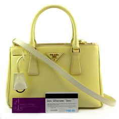 PRADA Lux Bn2316 Cream Color Saffiano Vernic Leather Fair Condition PriceRm2xxxRef.code-(BVUKC-7) More Info Pls PM Or Email  ( luxuryvintagekl@ gmail.com )