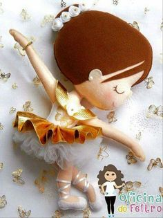 Feltro bailarina menina