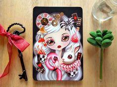 """Through Her Eyes"" Alice in Wonderland Postcard by Sandra Vargas #postcrossing #postcard"