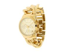 $23.99 Outlet FREE SHIPPING Michael Kors Luxury Chain Watch Gold | Least-time - Jewelry on ArtFire