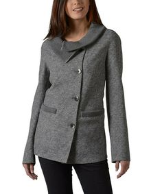 Take a look at this Dark Gray Wool Mona Cardigan by KUNA on #zulily today! $300 !!