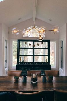 ETSY - Handblown 6 Glass Globe Bubble Light Chandelier by lindenharlow Dining Room Lighting, Chandelier Lighting, Chandelier Ideas, Pendant Chandelier, Light Pendant, Bubble Chandelier, Candelabra Bulbs, Globe Lights, Room Lights