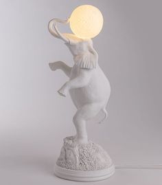 Lampe de table Elephant / H 55 cm Blanc - Seletti