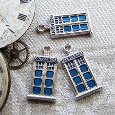 Three TARDIS Dr. Who Charms, 3 per package. SFF001 by BriarGateGoods on Etsy https://www.etsy.com/listing/219846950/three-tardis-dr-who-charms-3-per-package