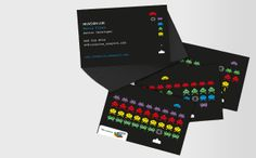 Space Invader Business Cards