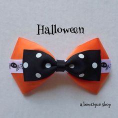 halloween hair bow by abowtiqueshop on Etsy