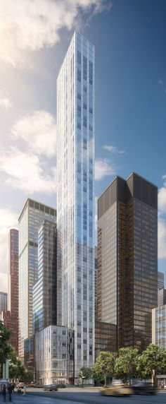 foster + partners' slender luxury new york residential tower soars at 61 storeys