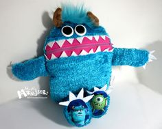Mini Cuddle Monster pillow, Closet monsters, Turquoise Plush Monster, pajama eater pillow, bedtime buddy, little monster, nightmare eater by MostlyMonstersCV on Etsy