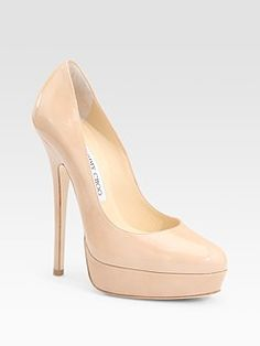 Nude Patent Pumps from  Jimmy Choo @ SaksFifthAve