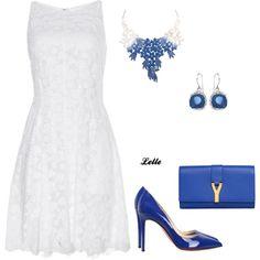 """Nina Ricci cotton lace dress"" by lellelelle on Polyvore"