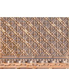 "Decorative Ceiling Tiles, #2436 - Antique Scarab - Copper Backsplash Tile . Size: 28"" x 18""; Depth: 5/8"". (Option for Border type B)"