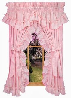 Frilly curtains- in white with lower cafe curtain. May have to make them myself.